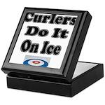 Curlers Do It On Ice Keepsake Box