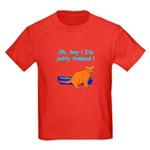 I'm Potty Trained ! Kids Dark T-Shirt