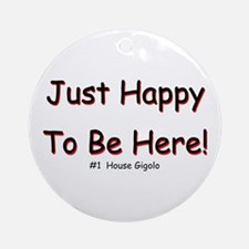 Just Happy Ornament (Round)