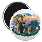 St. Fran #2/ German Shepherd (P) Magnet