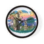 St. Fran #2/ German Shepherd (P) Wall Clock