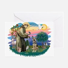 St. Fran #2/ German Shepherd (P) Greeting Card
