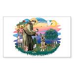 St. Fran #2/ German Shepherd (P) Sticker (Rectangl