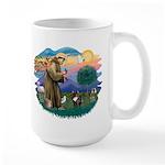 St Francis #2/ Fr Bulldog (brin) Large Mug