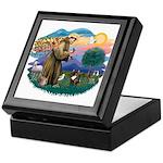 St Francis #2/ Fr Bulldog (brin) Keepsake Box