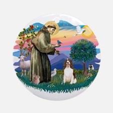 St. Fran #2/ English Springer (liver) Ornament (Ro