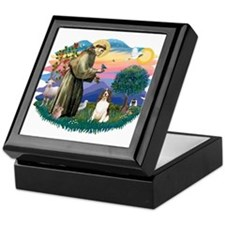 St. Fran #2/ English Springer (liver) Keepsake Box