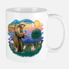 St Francis #2/ Pug (fawn) Small Small Mug