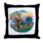 St. Fran #2/ Apricot Poodle (min) Throw Pillow