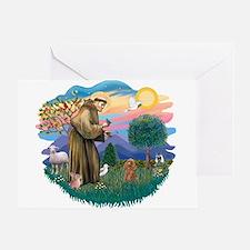 St. Fran #2/ Apricot Poodle (min) Greeting Card