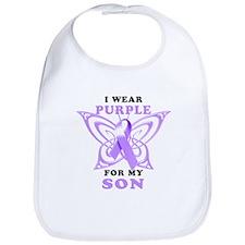 I Wear Purple for My Son Bib