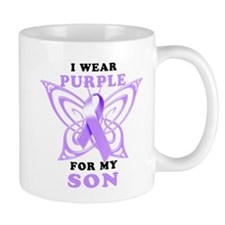 I Wear Purple for My Son Mug