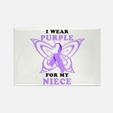 I Wear Purple for My Niece Rectangle Magnet