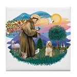 St. Fran #2/ Cocker Spaniel (#10) Tile Coaster