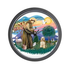 St. Fran #2/ Cocker Spaniel (#10) Wall Clock