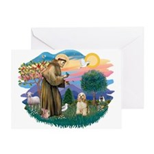 St. Fran #2/ Cocker Spaniel (#10) Greeting Card