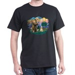 St. Fran #2/ Cocker Spaniel (#10) Dark T-Shirt