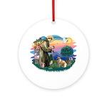 St Francis #2/ E Bulldog #3 Ornament (Round)
