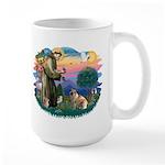 St Francis #2/ E Bulldog #3 Large Mug