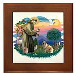 St Francis #2/ E Bulldog #3 Framed Tile