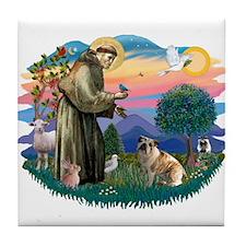 St Francis #2/ E Bulldog #3 Tile Coaster