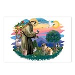 St Francis #2/ E Bulldog #3 Postcards (Package of