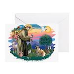 St Francis #2/ E Bulldog #3 Greeting Card