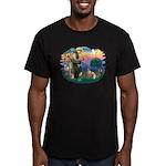 St Francis #2/ E Bulldog #3 Men's Fitted T-Shirt (