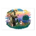 St. Fran #2/ English Bulldog (BrW) Postcards (Pack