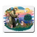 St. Fran #2/ English Bulldog (BrW) Mousepad