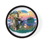 St. Fran #2/ English Bulldog (BrW) Wall Clock