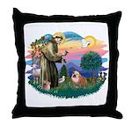 St. Fran #2/ English Bulldog (BrW) Throw Pillow