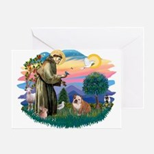 St. Fran #2/ English Bulldog (BrW) Greeting Card