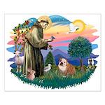 St. Fran #2/ English Bulldog (BrW) Small Poster