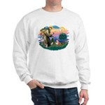St. Fran #2/ English Bulldog (BrW) Sweatshirt