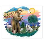 St. Fran #2/ English Bulldog (W) Small Poster