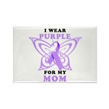 I Wear Purple for My Mom Rectangle Magnet