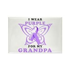 I Wear Purple for My Grandpa Rectangle Magnet