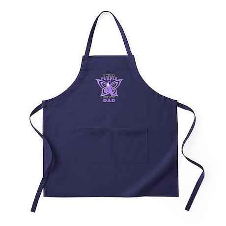 I Wear Purple for My Dad Apron (dark)
