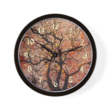 Fire Tree Wall Clock