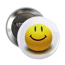 "Funny Smile happy face 2.25"" Button"