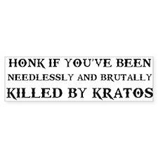 Killed By Kratos Bumper Sticker