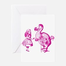 Alice and Dodo Pink Greeting Card