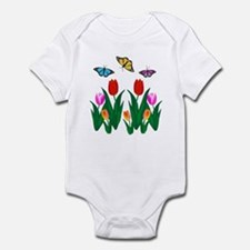 Funny The hearts of the dolphins Infant Bodysuit