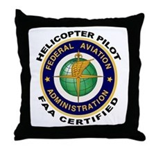 FAA Certified Helicopter Pilot Throw Pillow