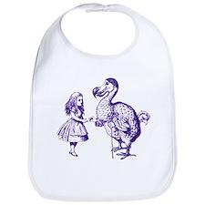 Alice and Dodo Purple Bib