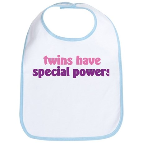 Twins Have Special Powers Pin Bib