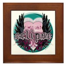 Twilight Eclipse Pink Heart Framed Tile