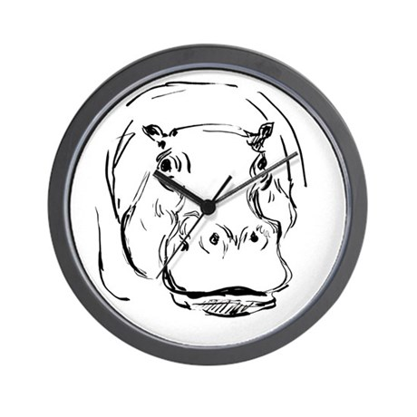 Sweet Hippo Wall Clock