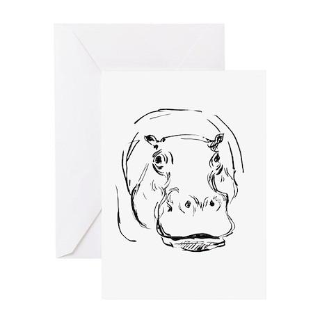 Sweet Hippo Greeting Card